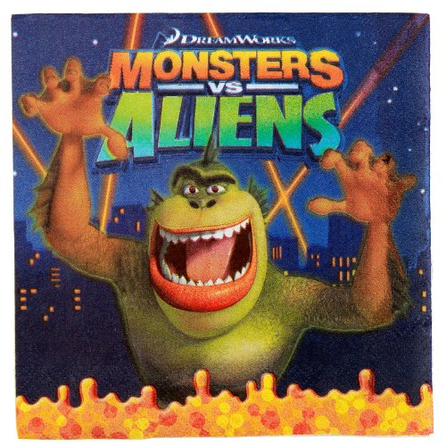 Monsters vs. Aliens Lunch Napkins (16 count) Party Accessory ()
