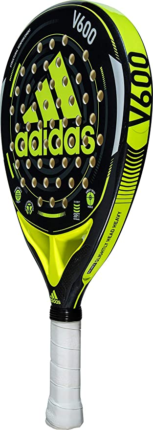 adidas V600 Lime/Charcoal/Black Intermediate Padel Racket
