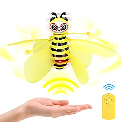 auryee Flying Ball Bee Toys,RC Infrared Induction Drone Helicopter with Shinning LED Light Hand-Controlled Flying Kids Toy for Age 4,5,6,7,8,9,10+Year Old Kid,Boys,Girls,Child Toy for Outdoor Indoor: Toys & Games