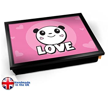 Amazon.com: Panda Bear Love Cute Kids cojín bandeja de ...