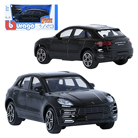 Burago 1:43 Porsche Makan Black Display Mini Car miniature car