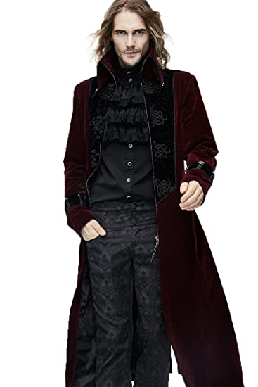 Devil Gothic Jackets Victorian Mens Vintage Thick Fashihon Long PrqTwC8r7Z