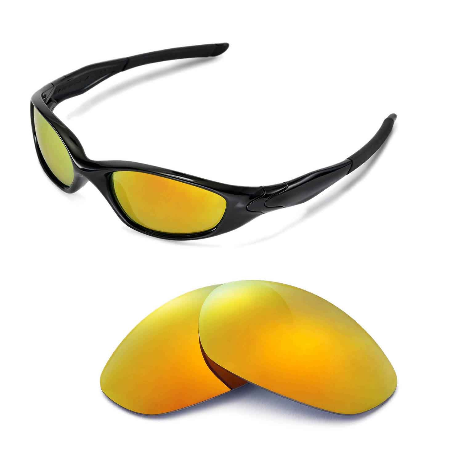 feb88eba666 Amazon.com  Walleva Replacement Lenses for Oakley Minute 2.0 Sunglasses - 6  Options Available (24K Gold Mirror Coated - Polarized)  Clothing