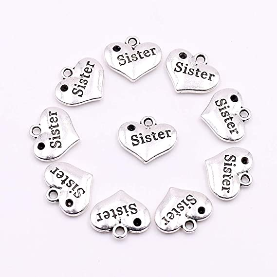 30x Charms Wings Heart Key Pendant Beads Jewellery Crafts Tibetan Silver //S763