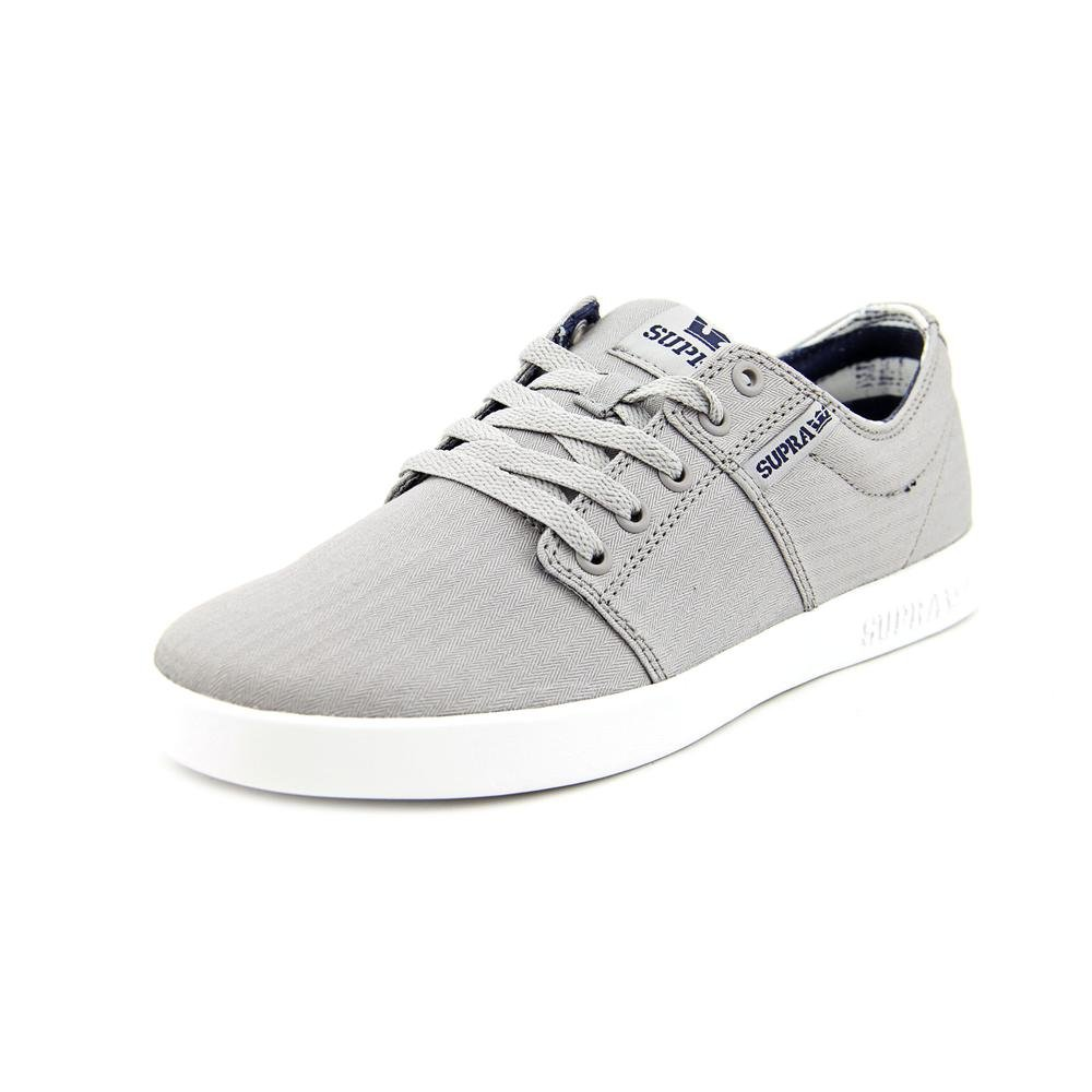 Supra Men's Stacks II Skate Shoe Medium / 10.5 C/D US Women / 9 D(M) US Men|Grey - White