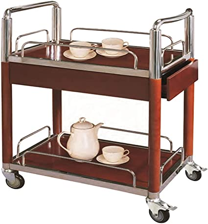Kalo Trolley Cart With Wheels Dining Room Service Rolling Cart Wooden Storage Kitchen Island Utility Cart W Wheels Amazon Co Uk Kitchen Home