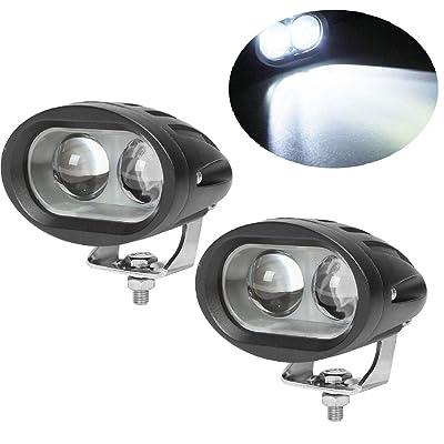 20W Led Forklift Safety Light Motorcycle Light 4D Lens Led Truck Lights Heavy Duty LED Work Light White(Pack of 2): Automotive