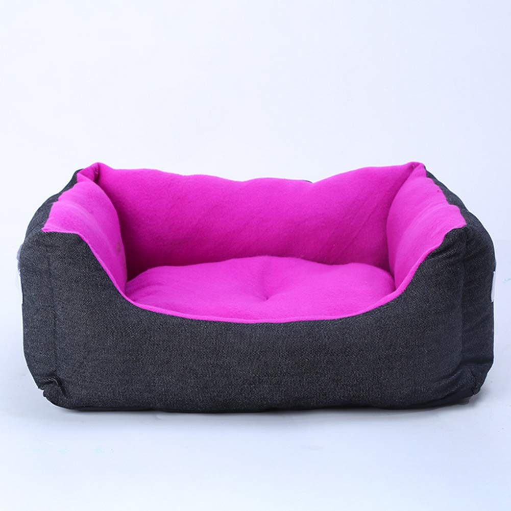 Purple 705018cm purple 705018cm Pet Bed Fashion Personality Denim New Kennel Fleece pet nest Wholesale Comfortable pet Mattress Four Seasons Available,Purple,70  50  18cm