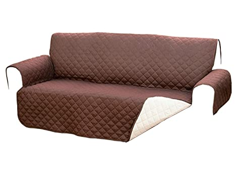 Sofa Reversible Double Quilt Fabric for Sofas up to 140 cm Colour Protects from Pets, Dust and stains