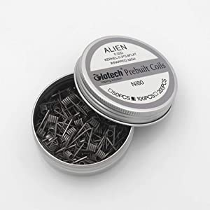 Glotech Alien Clapton Premade Coils Resistance Wire Set Ni80 Heating Wire for Craft Hobby Use 100pcs/box