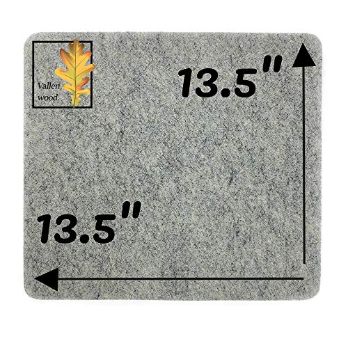 """Vallenwood 13.5"""" x 13.5"""" Wool Pressing Mat for Quilter´s, Great for Travel and Quilting. Portable Heat Press Iron Craft Pad to Carry on or Quilt Classes"""