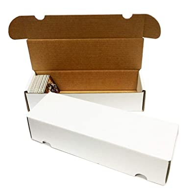 (5) 550 Count Corrugated Cardboard Storage Boxes by Max Pro for Baseball, Football, Basketball, Hockey, Nascar, Sportscards, Gaming & Trading Cards Collecting Supplies: Sports & Outdoors