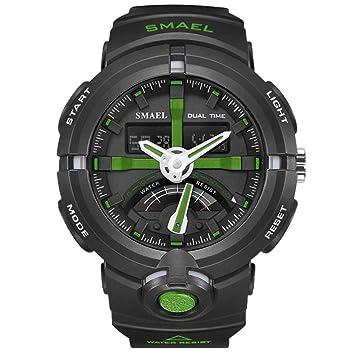 SW Watches SMAEL Reloj Electrónico Relojes Deportivos Digitales para Hombres Reloj Masculino De Doble Pantalla A Prueba De Agua Relojes De Buceo,D: ...