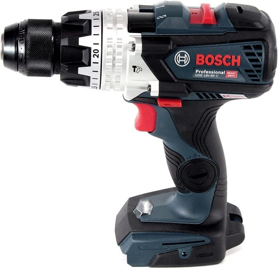 Bosch Professional Gsb 18v 85 C Battery Impact Drill System 2 X 5 0 Ah Battery Quick Charger Connection Module L Boxx Baumarkt