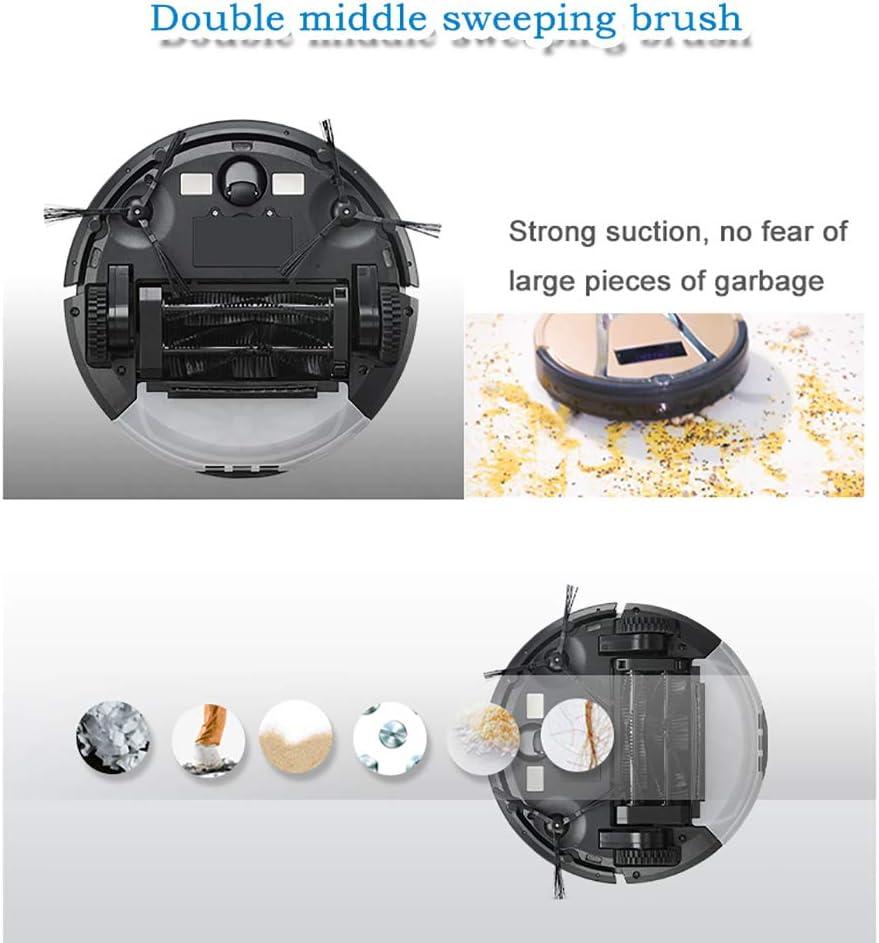 Aspirateur Robot, 3 En 1 Robot De Balayage Ultra-Silencieux, Mode De Nettoyage Multifonction, Mur Virtuel, Convient Au Robot Aspirateur D\'intérieur Domestique,Black Black