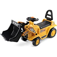 Kids Ride On Toy Car Bulldozer With Seat Storage Children Pretend Play Toys