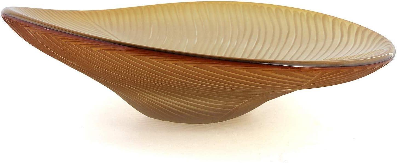 Kisspoint Home Decor Candy Dish Glass Fruit Tray Decorative Bowl for Centerpiece Large Salad Serving Plate Display Bowls for Office Kitchen Vegetable Bowls Keys Platter Holder (Handmade, Gold)