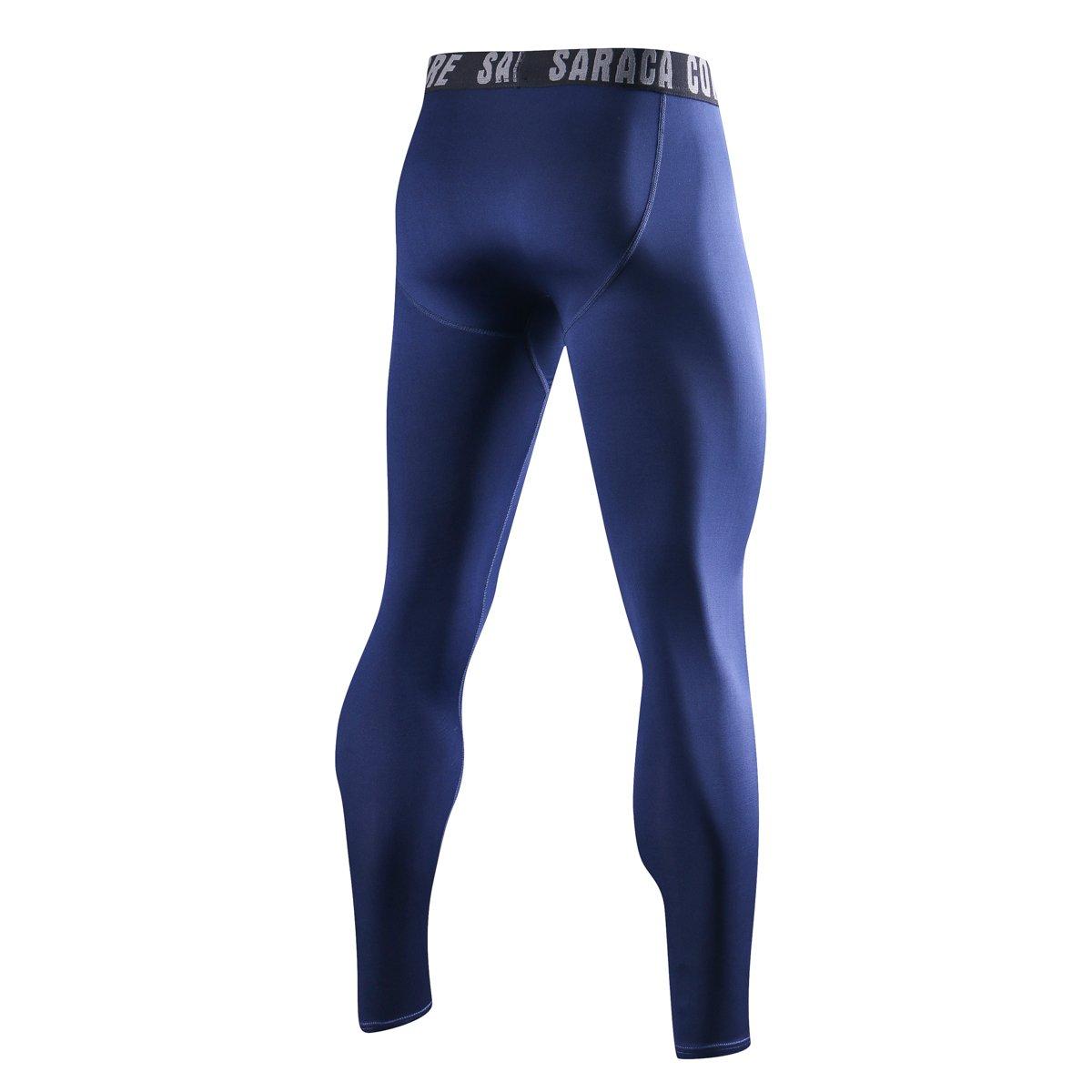 saracacore Pantalon de Compression Fitness Legging Rashguard Homme Sport Court Musculation Baselayer