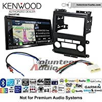 Volunteer Audio Kenwood DNX574S Double Din Radio Install Kit with GPS Navigation Apple CarPlay Android Auto Fits 2009-2012 Nissan Frontier, Xterra