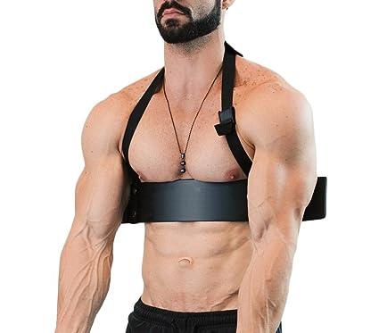 4487 Barra curl de bíceps para ejercicio aislado de bíceps y tríceps 60x9 cm