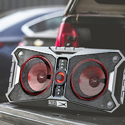 61GhyZ5zqTL - Altec Lansing ALP-XP800 XPEDITION 8 Portable Waterproof Wireless Bluetooth Indoor or Outdoor Speaker with Multi-Colored LED Light Show, Stereo Pairing, Everything Proof