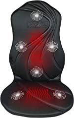Sooswel Vibration Massage seat Cushion with 6 Motors and 2 Therapy
