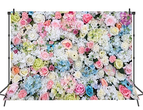 Sensfun Wedding Backdrop Flowers Wall Photo Printed Background Baby Newborns Celebration Rose Floral Photography Backdrop - Photography Floral Backgrounds