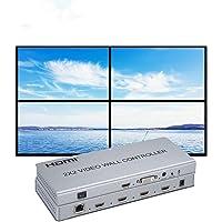 Video Muur Controller Splitter 1x2 2x2 1x3 3x1 1x4 4x1 Ondersteuning DVI of HDMI ingang naar 4X HDMI uit…