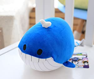 "Garwarm 10"" Nano Foam Particles Soft Plush Toy,Blue Whale"