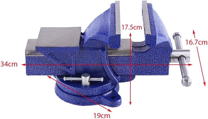 Tornillo de banco de mesa acero bandeja Base giratoria de 360//°, apertura de mordaza 110/mm, ancho de mand/íbulas 80/mm 4///5//6/tornillo de banco de banco con yunque