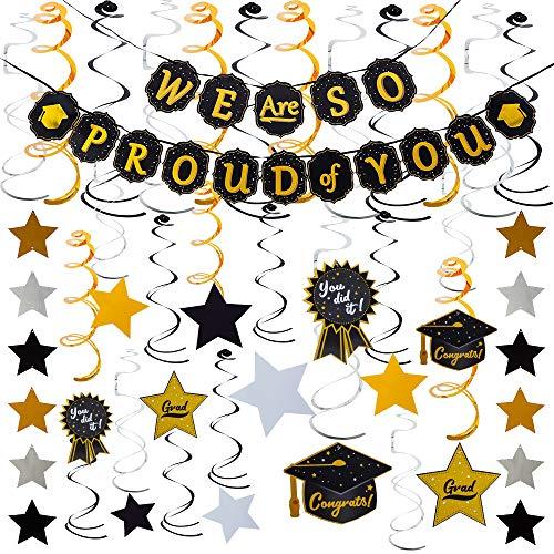 - JOYIN Graduation Party Supplies 26 Hanging Swirls Strings Banner Graduation Party Decoration Graduation Party Favors