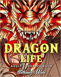 Amazon Adult Coloring Book Dragon Life Dragons And Masters In Fantasy Realms 35 Original Illustrations 9781973832492 Nathaniel Wake Books