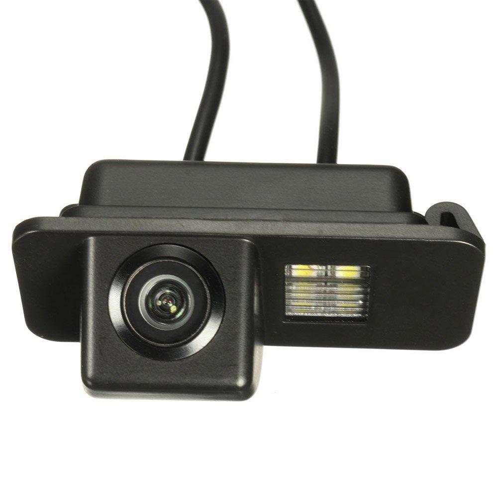 SAXTEL - Telecamera Posteriore Universale per Auto, con Cavo registratore per retromarcia, Chip CCD con Visione Notturna Impermeabile