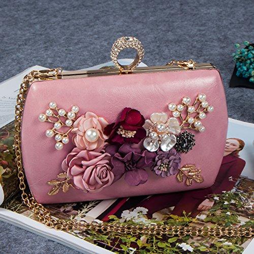 Bagood - Cartera de mano para mujer rosa claro