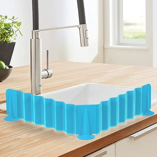 Kitchen Sink Splash Water Board Guard Vegetable Dish Washing Baffle Board