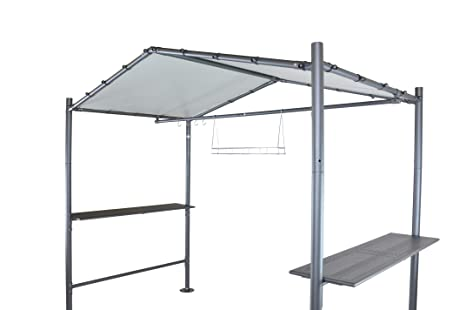 SORARA Pabellón BBQ Grill Carpa | Gris Oscuro | 265 x 150 cm PVC 610 g