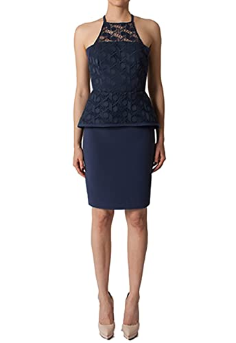 Black Halo Corsica Sheath Dress in Navy