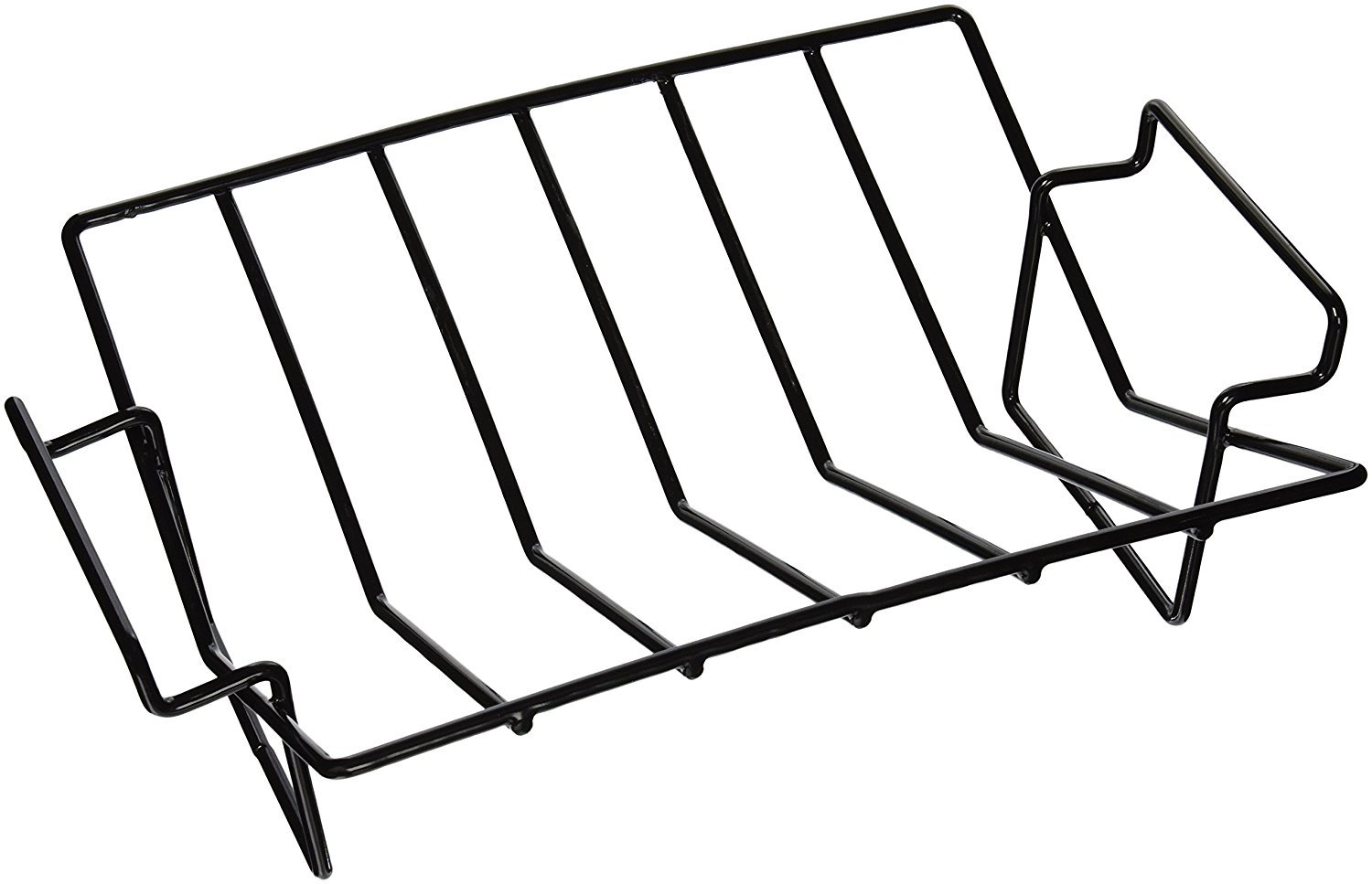 Dracarys Rib Rack For Smoking and grilling,Big Green Egg Accessories Roasting Rack,Porcelain Coated Steel smoker accessories Dual-Purpose Fits for Large Big Green Egg,Weber,Kamado Joe,Primo,VisionEtc. by Dracarys