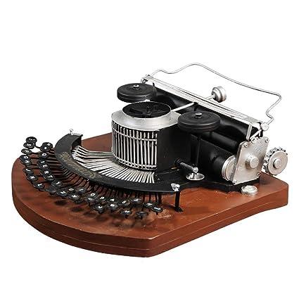 RY Muebles para el hogar Artesanías - Retro Máquina de Escribir Vintage Artesanías Inicio Creativo Decoración