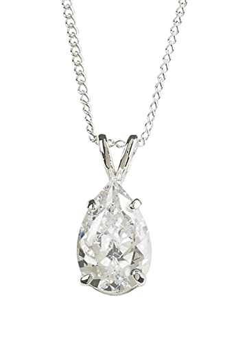 Amazon no tears in heaven in memory crystal teardrop stone no tears in heaven in memory crystal teardrop stone silver plated pendant necklace 18 inch mozeypictures Choice Image