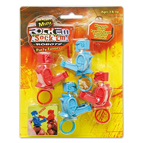 Tara Toys Rock Em Sock Em Mini Games 4ct -