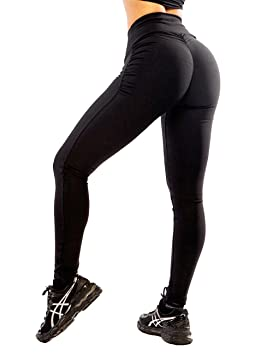 c9764ebd30604 FITTOO Women High Waist Sport Leggings Push Up Stretch Gym Workout Trousers  (Black, X
