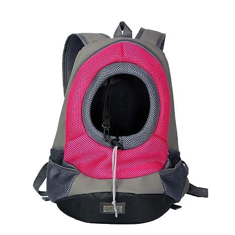 078e4fb3f831 ASOCEA Hands Free Pet Dog Cat Carrier Backpack Breathable Mesh Dog Front  Travel Bag Adjustable Padded