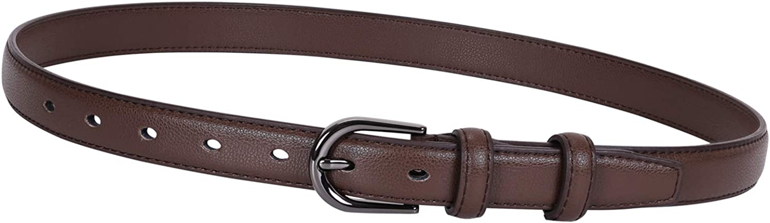 Women Skinny Leather Belt-...