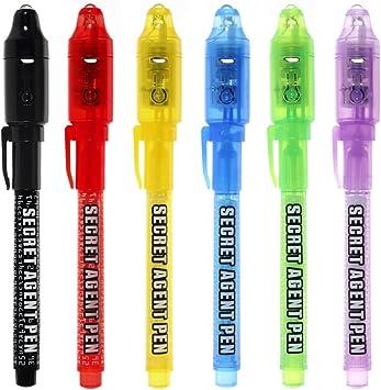 Bolígrafo de tinta invisible, lápiz espía MALEDEN con rotulador ...