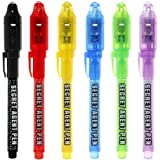 Invisible Ink Pen, MALEDEN Upgraded Spy Pen Invisible Ink Pen with UV Light Magic Marker for Secret Message and Kids Hallowee