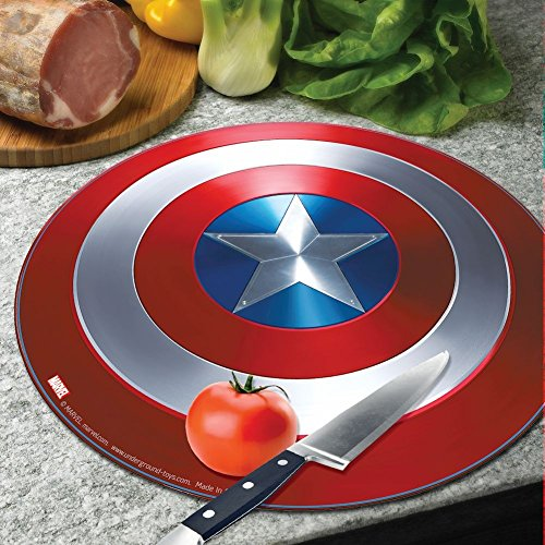 Marvel Avengers Captain America Civil War Shield Round Tempered Glass Cutting Board by UNDERGROUND TOY
