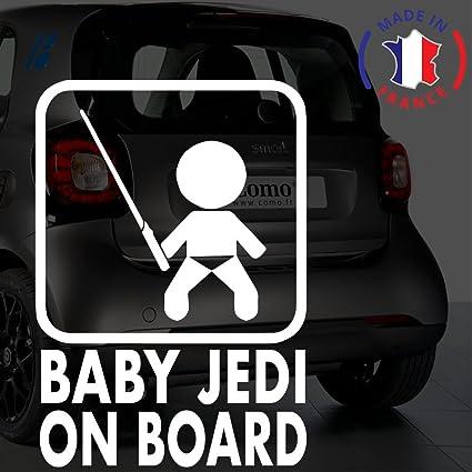 Anakiss Sticker b/éb/é /à bord pour voiture Enfants /à Bord 20 cm Blanc
