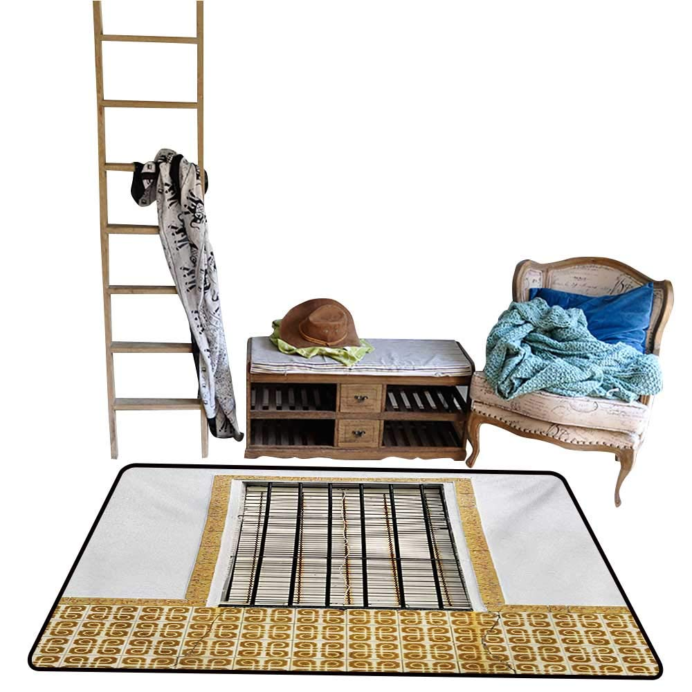 Amazon Com Tankcsard Rugs Carpet Country Image Of Modern Spanish Window And Shutters With Mosaic Patterns Urban City Life Brown White Jpg 24 36 Household Garden Outdoor