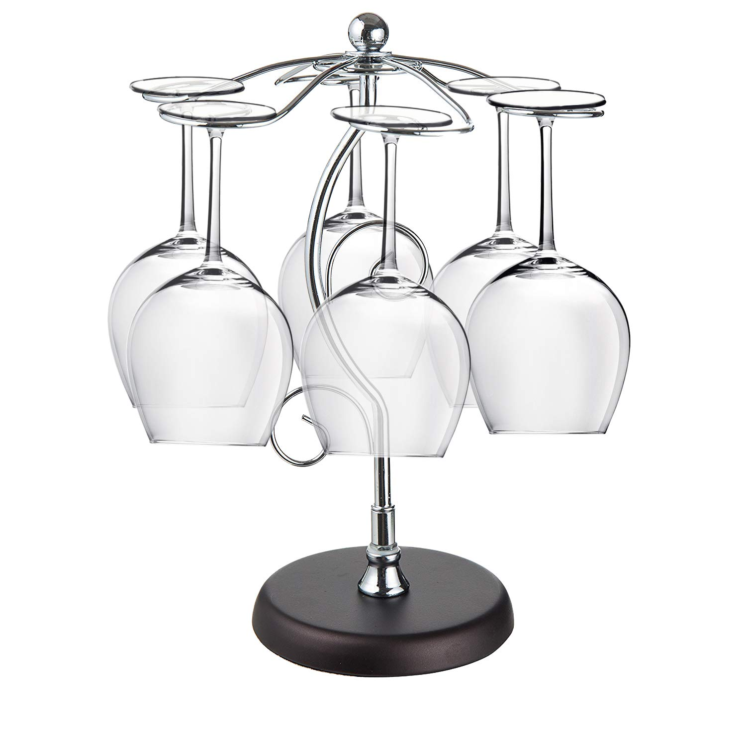 MyLifeUNIT Wine Glass Rack Stand, Metal Wine Glass Holder Rack Tree Display, 6 Cups by MyLifeUNIT